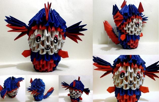Origami Diagram Likewise 3d Origami Penguin On Penguin 3d Origami