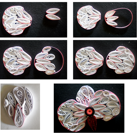 Tutorial how to make quilling flower destinys child and heres the step by step procedure to make the flower mightylinksfo